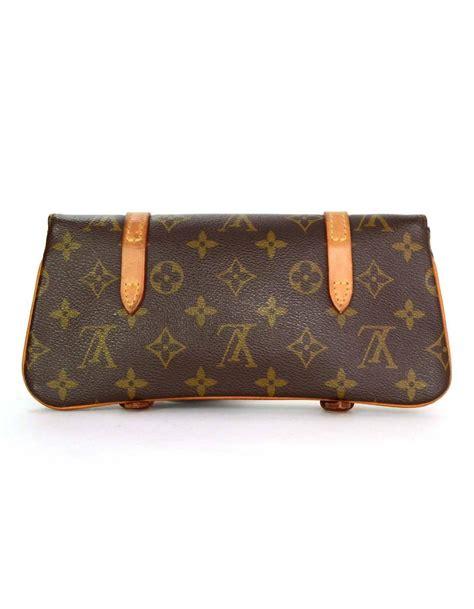 louis vuitton brown monogram murrell belt bag  ghw