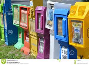 Home Design Magazine Florida Row Of Newspaper Vending Machines Editorial Stock Photo