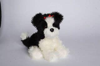 black shih tzu stuffed animal douglas plush tingle shih tzu stuffed black white puppy cuddle