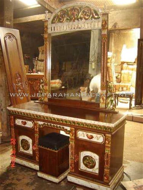 Meja Rias Kayu Jati paling murah meja rias jati rahwana marmer berkualitas