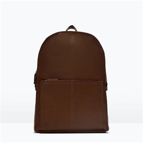 Office Backpack by Zara Office Backpack Office Backpack In Brown For Lyst