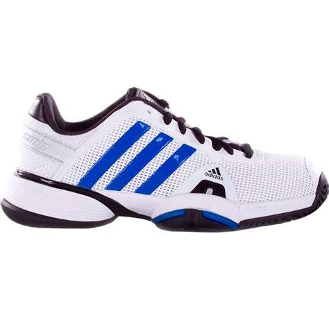 adidas barricade 8 xj junior tennis shoe white blue silver