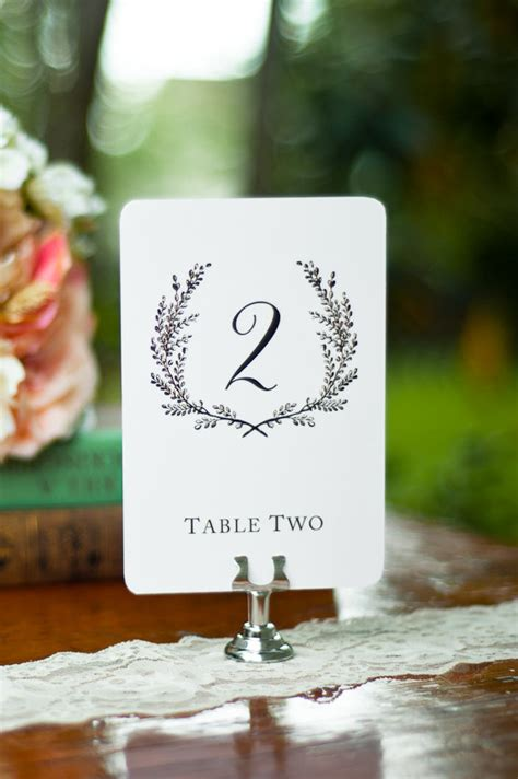 sweet vintage wedding table number signs 1 15 by sixpencepress