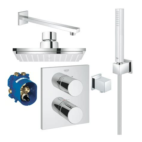 eckige armaturen grohe brauseset eckige form mit thermostat grohtherm 3000