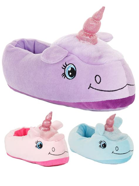 unicorn slippers womens novelty 3d character plush unicorn slippers