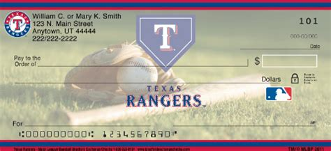 Background Check Tx Rangers Mlb 174 Personal Checks
