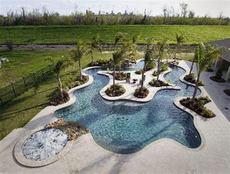backyard lazy river art now and then swimming pool design