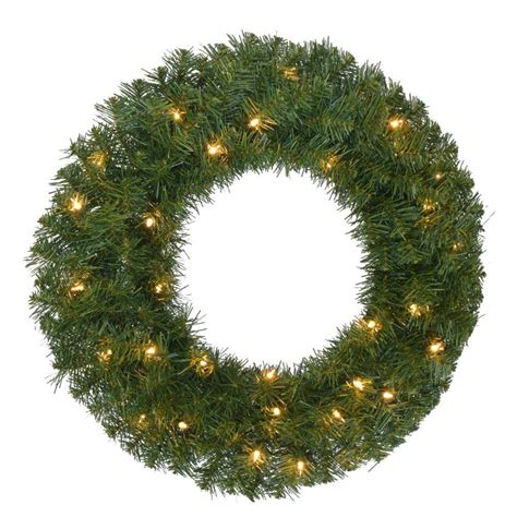 lighted christmas garland clearance home accents holiday 24 in pre lit noble fir artificial