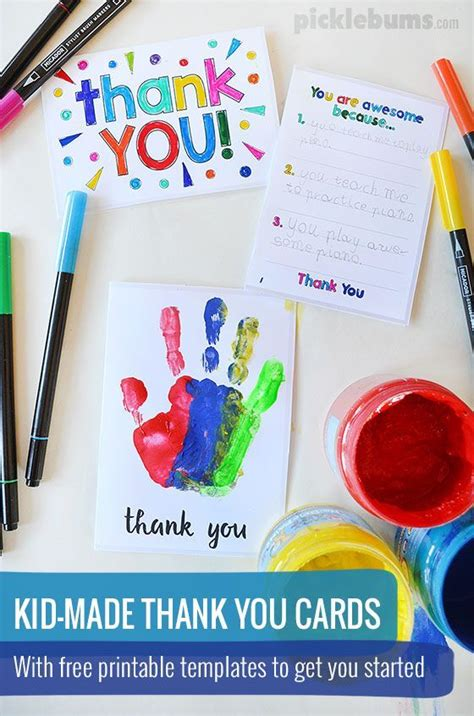 Thank You Note After Kindergarten 25 Best Ideas About Thank You Cards On Preschool Crafts February