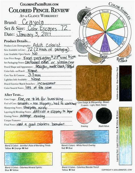 coloring pages bliss color chart crayola color escapes colored pencils review