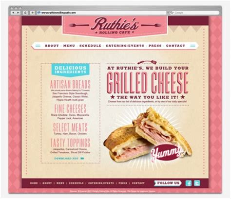 The Rolling Kitchen Food Truck Menu by Ruthie S Rolling Cafe Food Truck Branding Grits