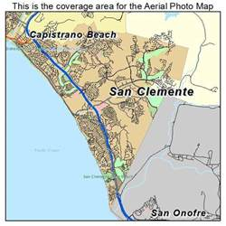 aerial photography map of san clemente ca california