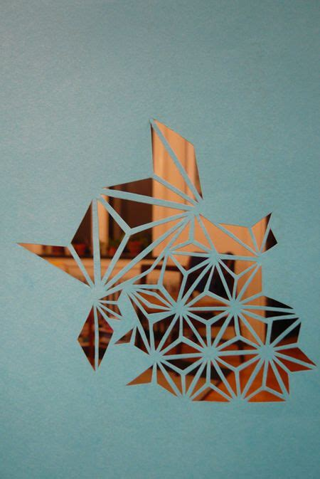 geometric pattern paper ooo love the idea of cutting out triangles with an exacto