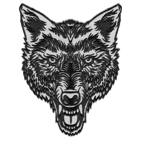 iron wolf tattoo vegasbee 174 lone wolf style embroidered patch