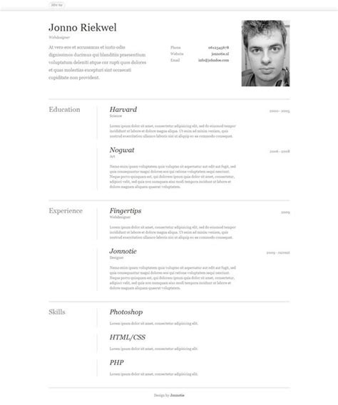 templates cv html css 10 free professional html css cv resume templates cv
