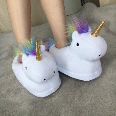 unicorn bedroom slippers unisex unicorn licorne infoor slippers home indoor bedroom