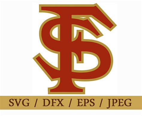 eps format in dxf florida state seminoles logo svg eps dxf format vector design