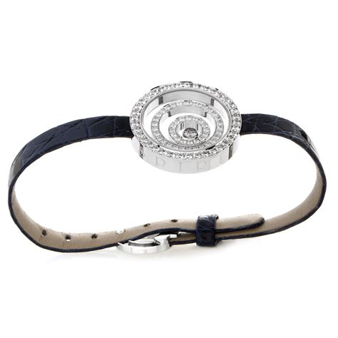 Chopard Number Leather White 1 chopard happy spirit 18k white gold leather arm band