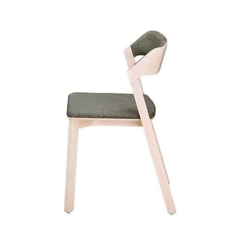 Merano stacking side chair with upholstered seat and back andy thornton