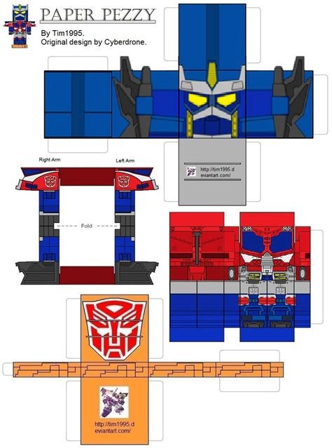 How To Make Paper Transformers - cybertron optimus prime paper prezzy by tim1995 on deviantart