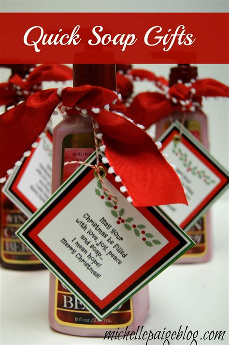 michelle paige blogs quick soap gift  christmas