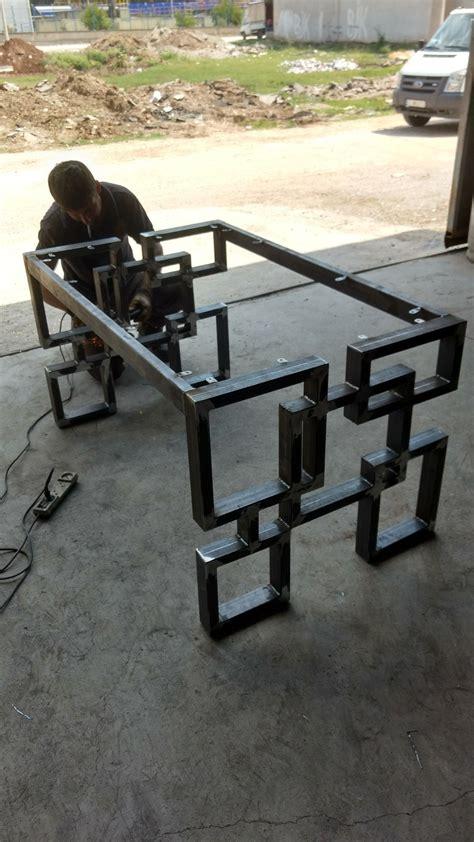 diy welded table legs shaafi diy home ideas desks legs and metals