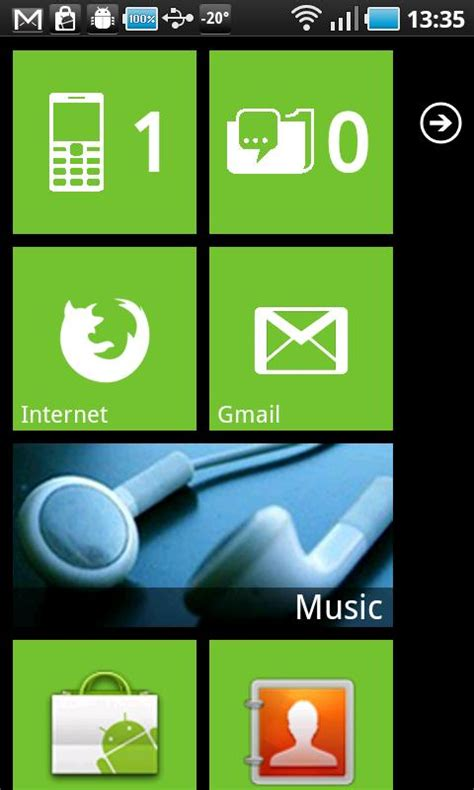 themes for android phones wp7 theme for android phones with launcher 7 app latest