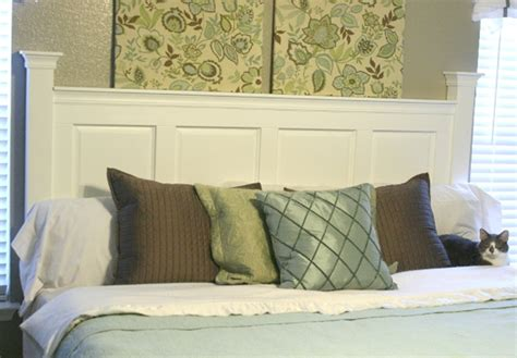 how to make a headboard diy headboard made from kitchen cabinet doors