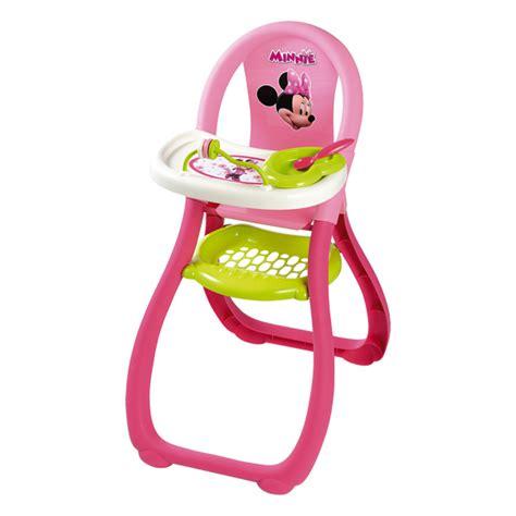 jouet chaise haute chaise haute minnie smoby king jouet accessoires de