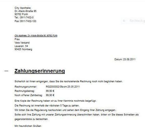 Musterbrief Zahlungserinnerung Zahlungserinnerung Drucken 64 Wiki Lauer Fischer Gmbh