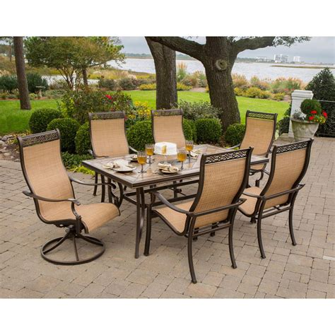 outdoor patio furniture dining sets monaco 7 dining set monaco7pcsw