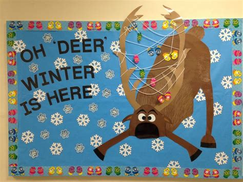 december winter bulletin board oh deer winter is here