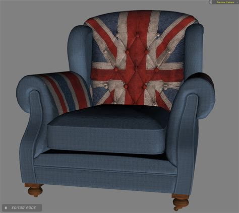 Union Jack Armchair Union Jack Armchair Freebie For Iclone M Y C L O N E