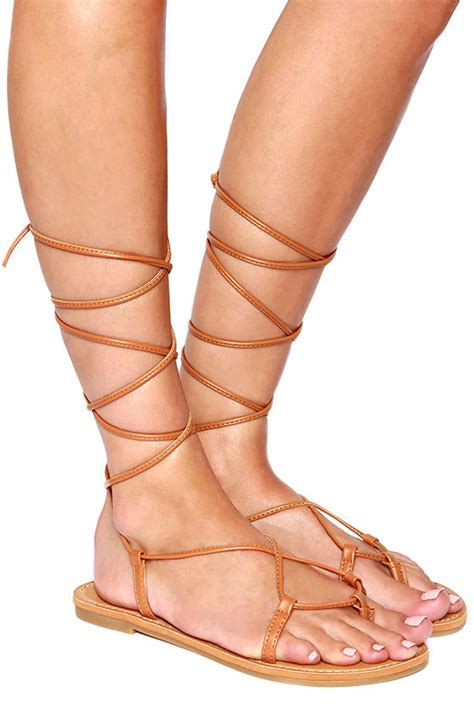 sandals that lace up the leg lace up metallic leg wrap self tie flat gladiator