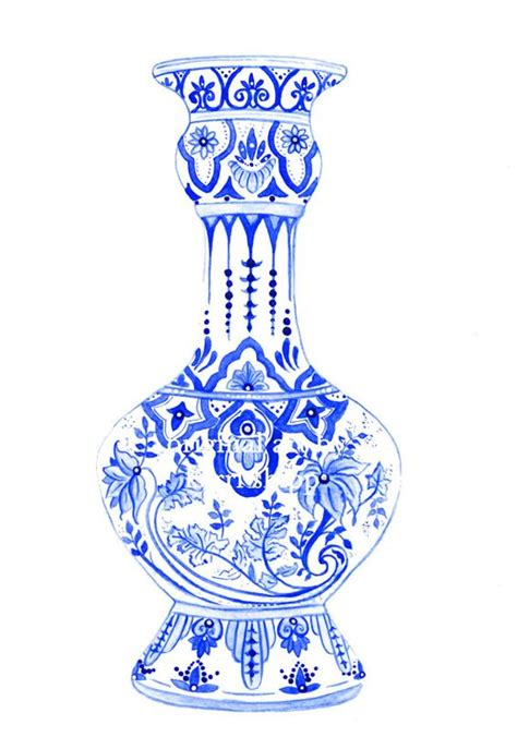 Vase Drawing For by Indigo New Print And Vases On