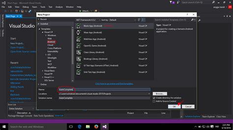 tutorial aplikasi edit video tutorial membuat aplikasi android autocomplete di xamarin
