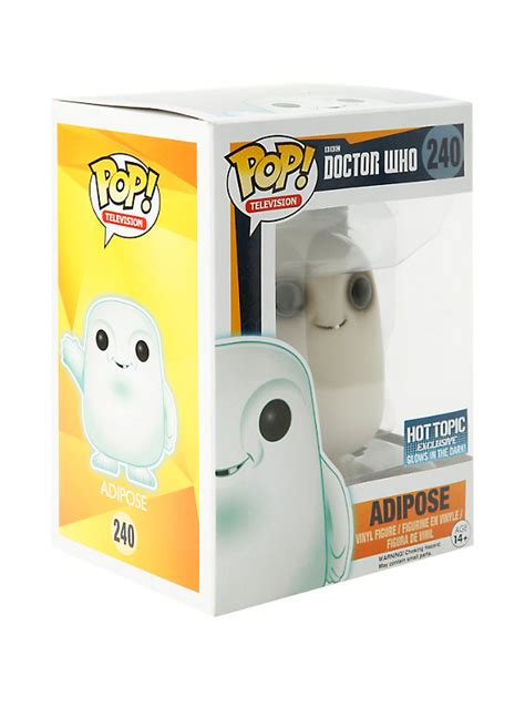 Funko Pop Vinyl Figure Topic Exclusive funko doctor who pop television adipose glow in the vinyl figure topic exclusive