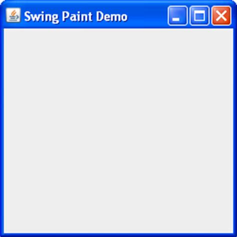 javax swing tutorial creating the demo application step 1 the java