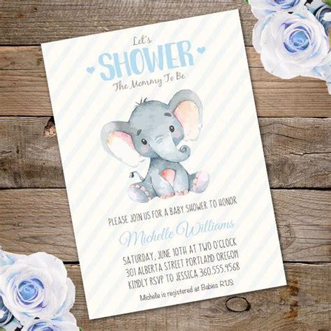 Elephant Baby Shower Invitation Template Edit With Adobe Reader Baby Shower Ideas Elephant Elephant Baby Shower Invitations Templates