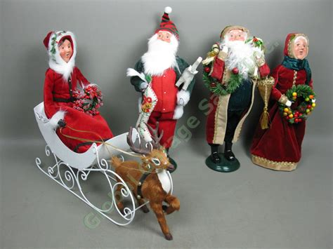 mrs claus shop joondalup prices 4 byers choice carolers lot santa mrs claus with sleigh reindeer nr ebay