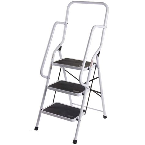 Safety Ladder With Handrails step ladder handrail non slip safety tread foldable rail new by home discount ebay