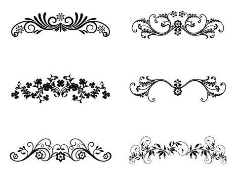 flower design element vector illustration free vector vector floral ornamental design elements free vector