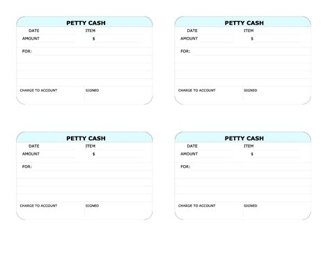 petty cash receipt template free besttemplates123