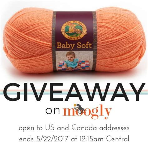 Baby Giveaways 2017 - cozy up to the lion brand baby soft giveaway moogly