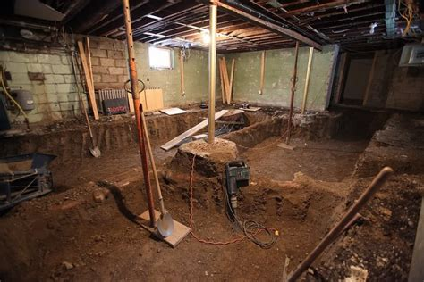 lowering basement floor cost what does basement underpinning cost in dc and md