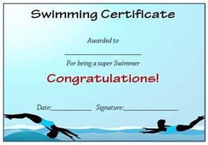 swimming certificates templates 30 free swimming certificate templates printable word
