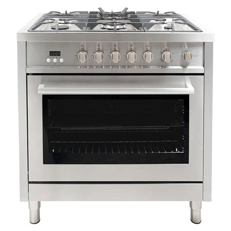 Oven Gas Cosmos cosmo 36 in 3 8 cu ft gas range with oven and 5 burner cooktop with heavy duty cast iron