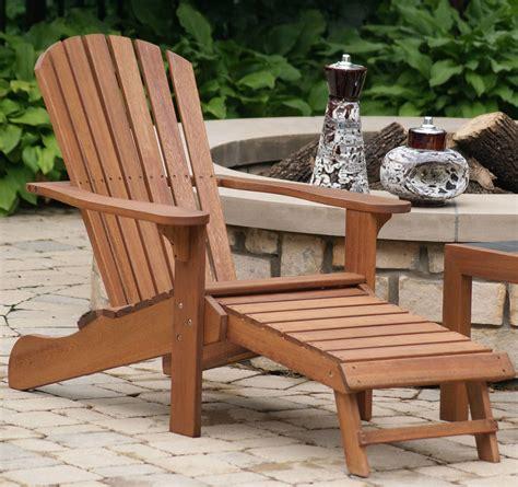 chair with built in ottoman eucalyptus wood adirondack chair with built in ottoman