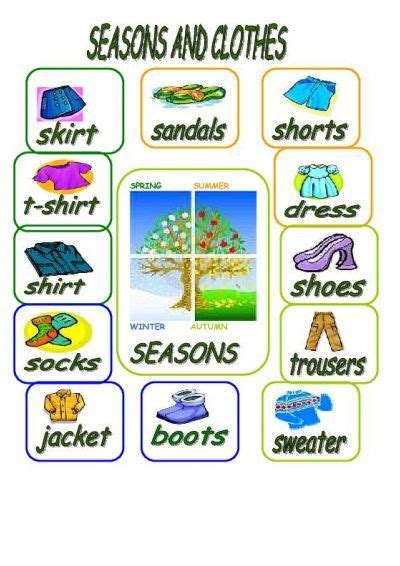 teach with teach 1 term 6 months printed access card new engaging titles from 4ltr press seasons and clothes worksheet free esl printable
