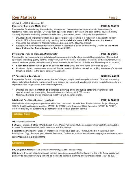 social media marketing resume sle social media marketing resume